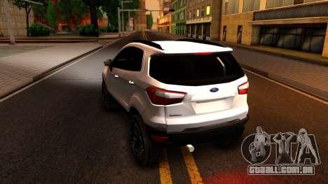 Ford EcoSport 2016 para GTA San Andreas traseira esquerda vista