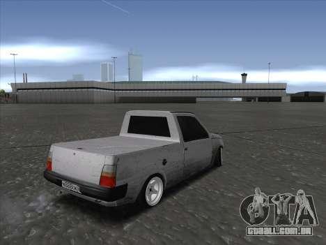 VAZ 1111 Drift para GTA San Andreas traseira esquerda vista