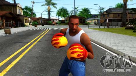 Red With Flames Boxing Gloves Team Fortress 2 para GTA San Andreas terceira tela