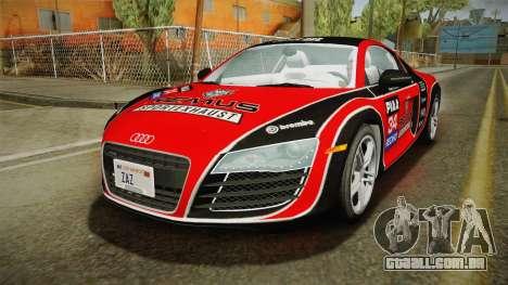 Audi R8 Coupe 4.2 FSI quattro US-Spec v1.0.0 v2 para o motor de GTA San Andreas