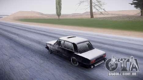 VAZ 2106 versão de inverno para GTA San Andreas traseira esquerda vista