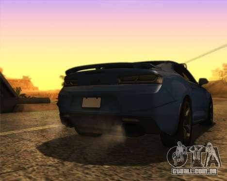 Chevrolet Camaro SS Xtreme para GTA San Andreas esquerda vista
