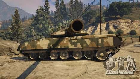 GTA 5 T-100 Varsuk traseira vista lateral esquerda