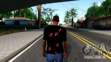 Black I am Fine T-Shirt para GTA San Andreas terceira tela