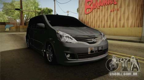 Nissan Grand Livina Highway Star para GTA San Andreas vista direita