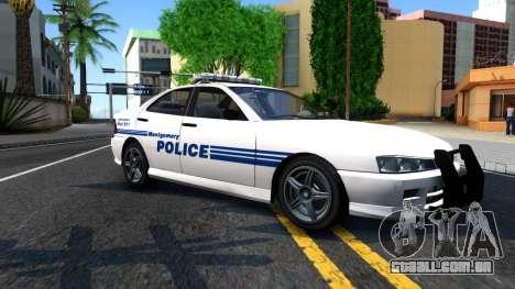 1998 Dinka Chavos Montgomery Police Department para GTA San Andreas esquerda vista