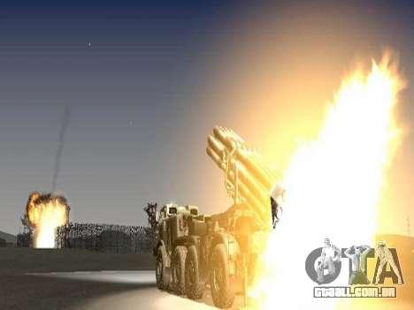 9К57 Furacão para vista lateral GTA San Andreas
