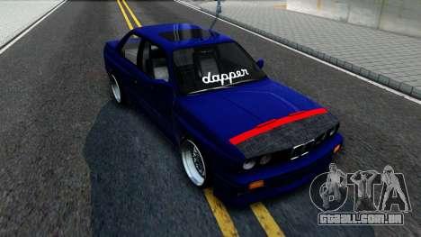 BMW E30 para GTA San Andreas vista traseira