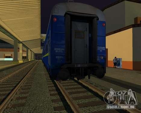 Compartimento de carro caminhos-de-ferro ucrania para GTA San Andreas vista interior