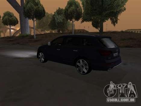 Audi Q7 Armenian para vista lateral GTA San Andreas