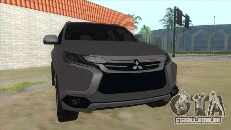2016 Mitsubishi Montero Sport para GTA San Andreas vista traseira