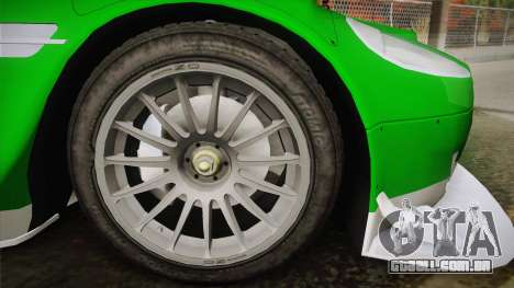 Aston Martin Racing DBR9 2005 v2.0.1 YCH Dirt para GTA San Andreas traseira esquerda vista