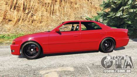 GTA 5 Toyota Chaser (JZX100) cambered [add-on] vista lateral esquerda
