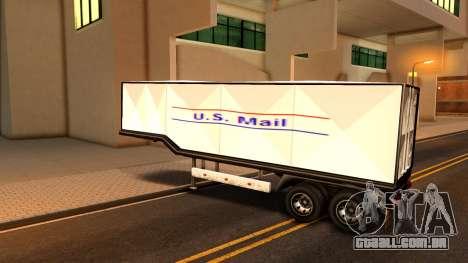 Box Trailer V2 para GTA San Andreas traseira esquerda vista