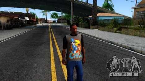 Regular Show T-shirt para GTA San Andreas segunda tela