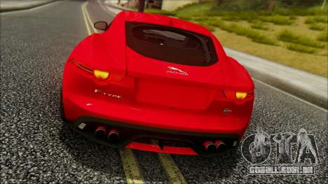 Jaguar F-Type SVR 2016 para GTA San Andreas traseira esquerda vista