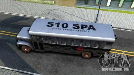 Prison Bus Driver Parallel Lines para GTA San Andreas vista direita