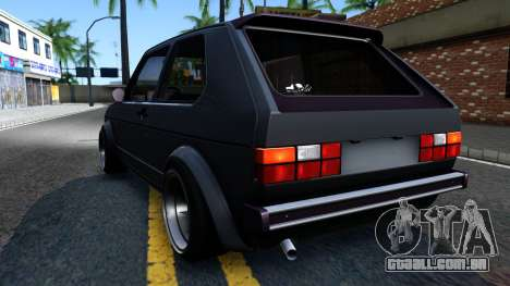 VW Golf Mk1 GTI Stance para GTA San Andreas vista direita