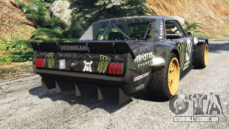 GTA 5 Ford Mustang 1965 Hoonicorn drift [add-on] traseira vista lateral esquerda