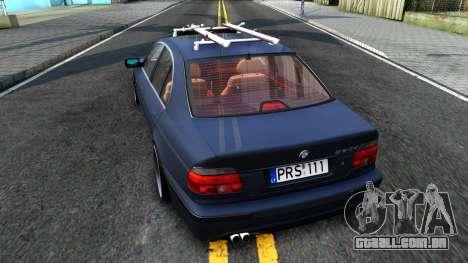 BMW e39 530d para GTA San Andreas traseira esquerda vista