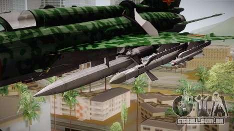 MIG-21 Norvietnamita para GTA San Andreas traseira esquerda vista
