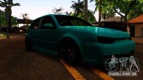 VW Golf 4 para GTA San Andreas vista traseira
