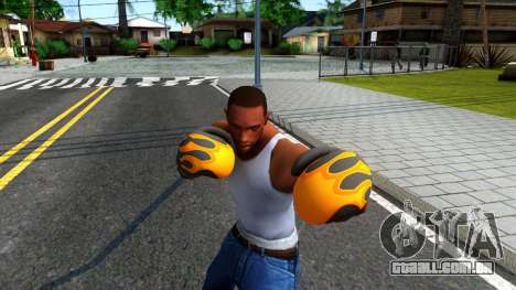 Black With Flames Boxing Gloves Team Fortress 2 para GTA San Andreas