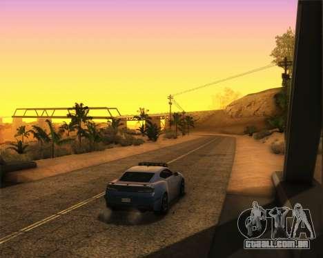 Chevrolet Camaro SS Xtreme para GTA San Andreas traseira esquerda vista