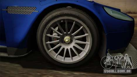 Aston Martin Racing DBR9 2005 v2.0.1 Dirt para GTA San Andreas vista traseira