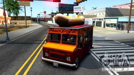 New HotDog Van para GTA San Andreas