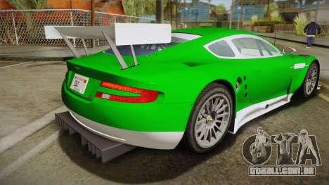 Aston Martin Racing DBR9 2005 v2.0.1 YCH Dirt para GTA San Andreas