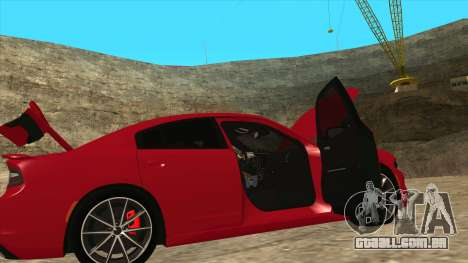 Dodge Charger R/T 2015 para GTA San Andreas vista inferior