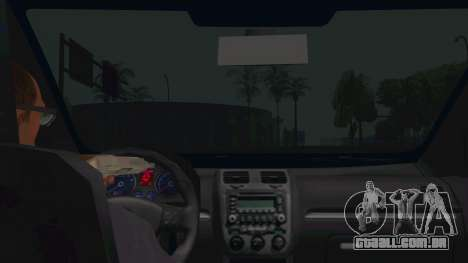 Volkswagen Golf MK para GTA San Andreas vista interior