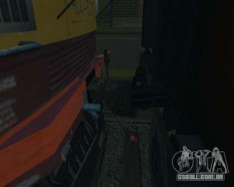 Compartimento de carro Donetsk-Moscovo para GTA San Andreas vista direita