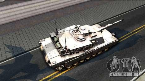 M1A1 Abrams COD4MW Remastered para GTA San Andreas traseira esquerda vista