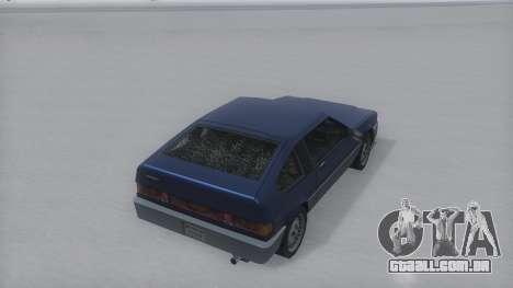 Blista Compact Winter IVF para GTA San Andreas traseira esquerda vista