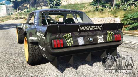 GTA 5 Ford Mustang 1965 Hoonicorn [add-on] traseira vista lateral esquerda