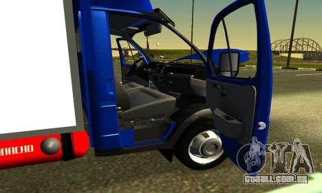 Gazel 3302 Negócios para GTA San Andreas vista interior