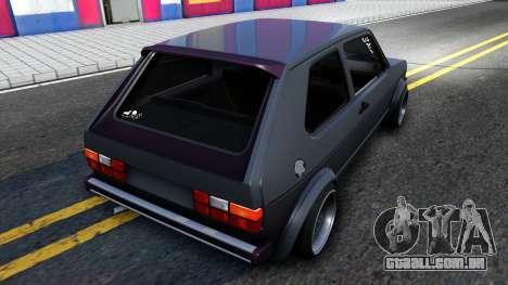 VW Golf Mk1 GTI Stance para GTA San Andreas traseira esquerda vista