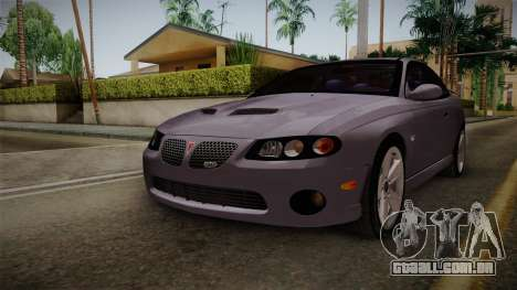 Pontiac GTO Hot Wheels NASCAR PJ para GTA San Andreas vista direita