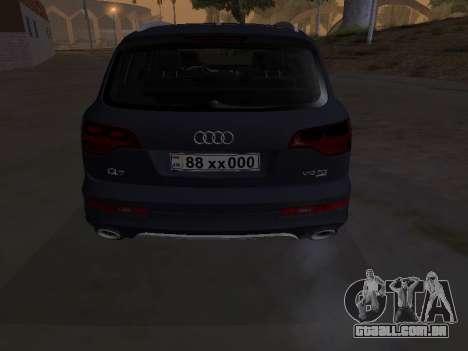 Audi Q7 Armenian para GTA San Andreas vista interior