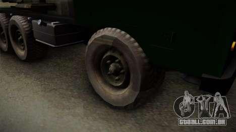 TAM 110 Serbian Military Vehicle para GTA San Andreas vista direita