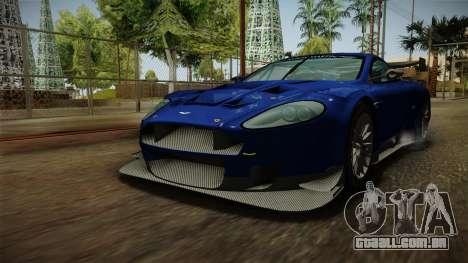 Aston Martin Racing DBR9 2005 v2.0.1 Dirt para GTA San Andreas vista direita