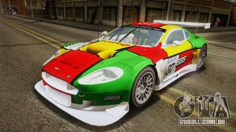 Aston Martin Racing DBR9 2005 v2.0.1 YCH para GTA San Andreas vista inferior