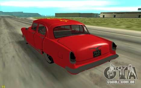 GAZ-21 para GTA San Andreas traseira esquerda vista