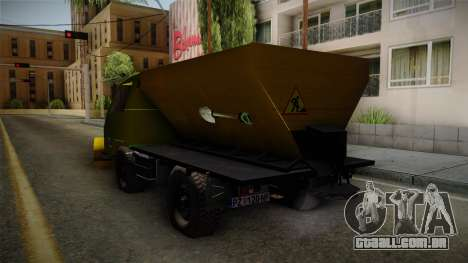 TAM 110 Snow Blower para GTA San Andreas vista direita