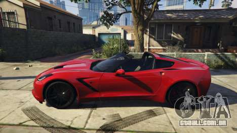 GTA 5 2014 Chevrolet Corvette C7 Stingray vista lateral esquerda