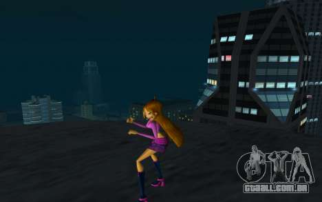 Flora Rock Outfit from Winx Club Rockstars para GTA San Andreas segunda tela