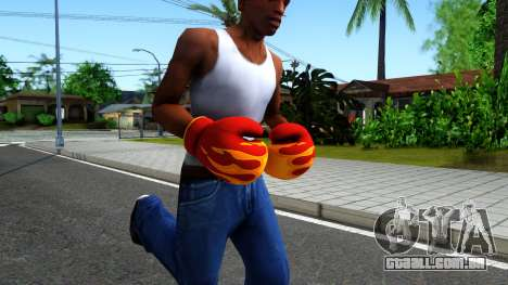 Red With Flames Boxing Gloves Team Fortress 2 para GTA San Andreas