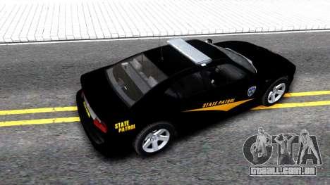 Bravado Buffalo State Patrol 2013 para GTA San Andreas vista traseira